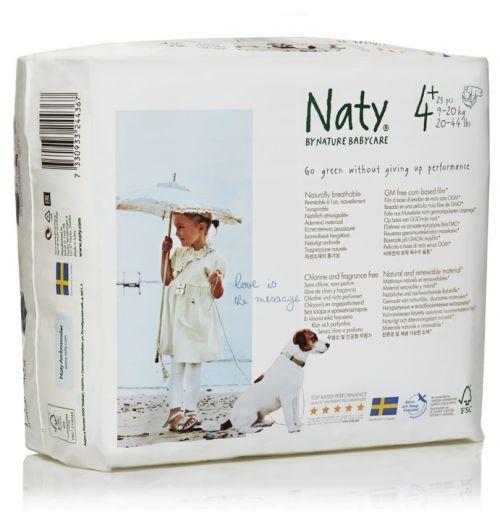 Scutece eco bio de unica folosinta Naty marimea 4+