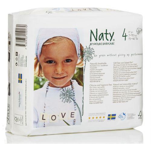 Scutece ecologice bio de unica folosinta Naty marimea 4